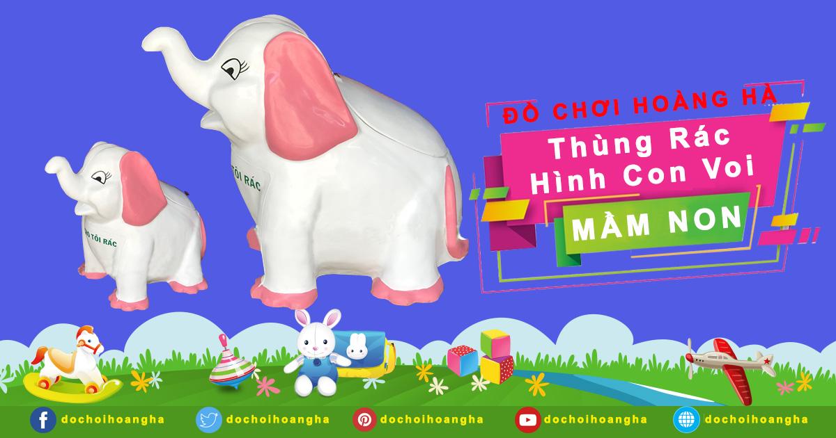 Tên sản phẩm: Thùng rác hình con voi