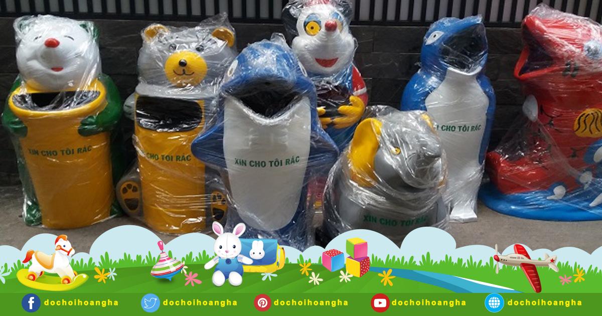 Đặc điểm nổi bật của thùng rác nhựa hình cá chép