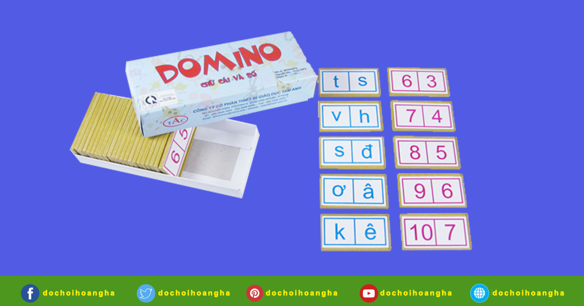 Được in 2 mặt các chữ cái tiếng việt và các con số từ 1-10.