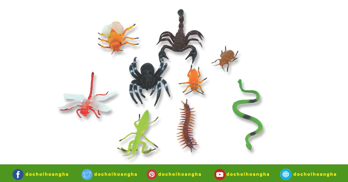 Bộ đồ chơi côn trùng bằng nhựa