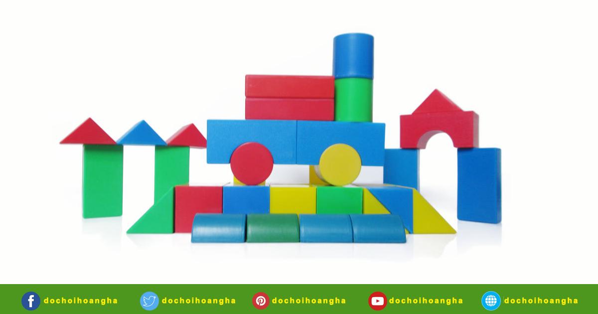 Bộ xếp hình xây dựng 44 chi tiết nhựa - Sản xuất tại Việt Nam Tiêu chuẩn Bộ Giáo dục