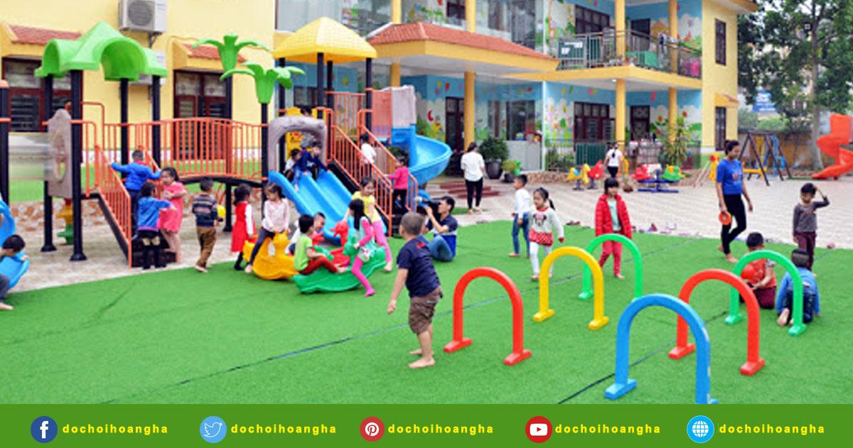 Tiết kiệm chi phí xây dựng sân chơi ngoài trời cho trẻ mầm non