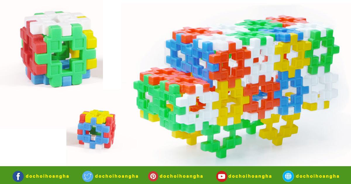 Đồ chơi gỗ xếp hình, lắp ráp thông minh sáng tạo cho bé