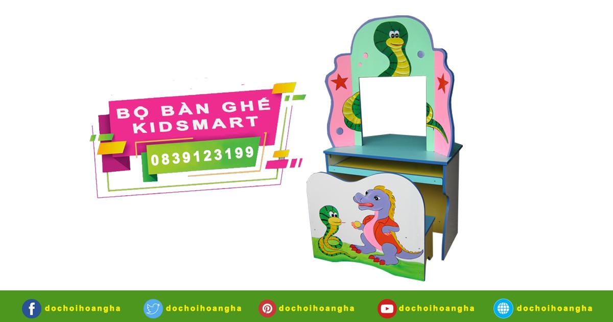 Bộ bàn ghế Kidsmart 02 chỗ ngồi dành cho mầm non