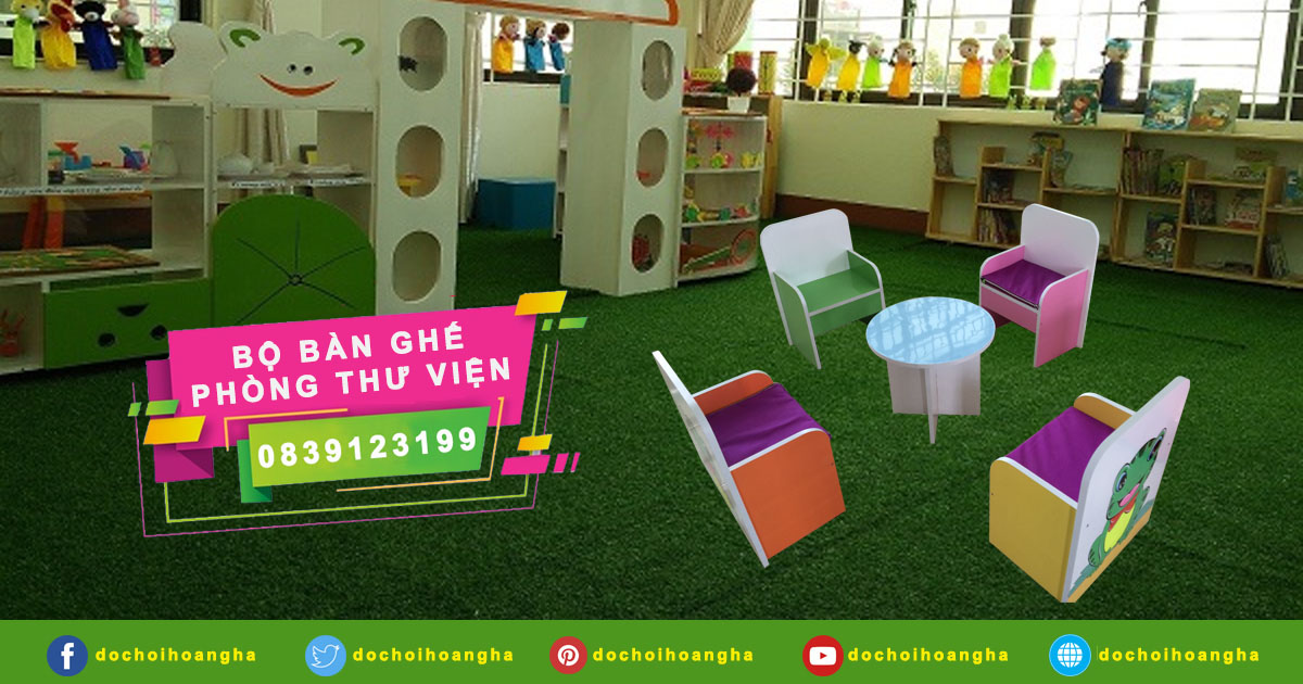 Mẫu bàn ghế thư viện dành cho trường học