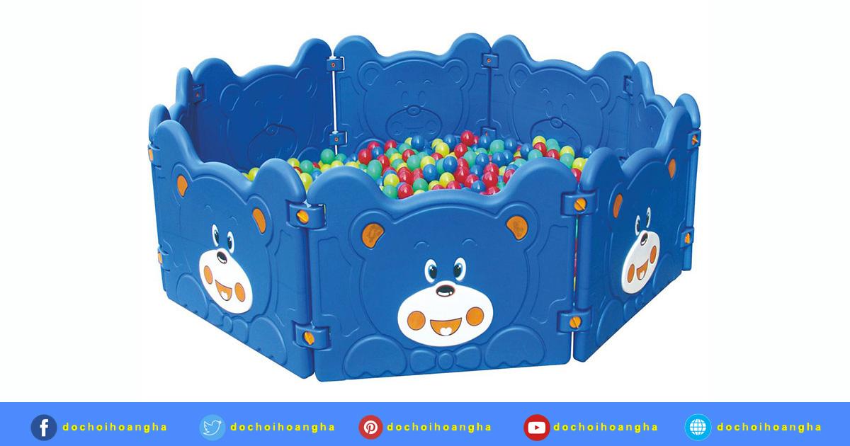 Công dụng của sản phẩm Nhà Banh Trẻ Em Mini Lắp Ghép Hình Gấu Trúc