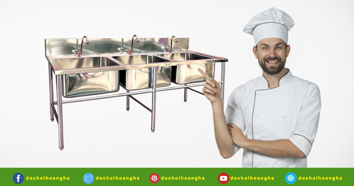 Đặc điểm nổi bật của bồn rửa thực phẩm 3 ngăn