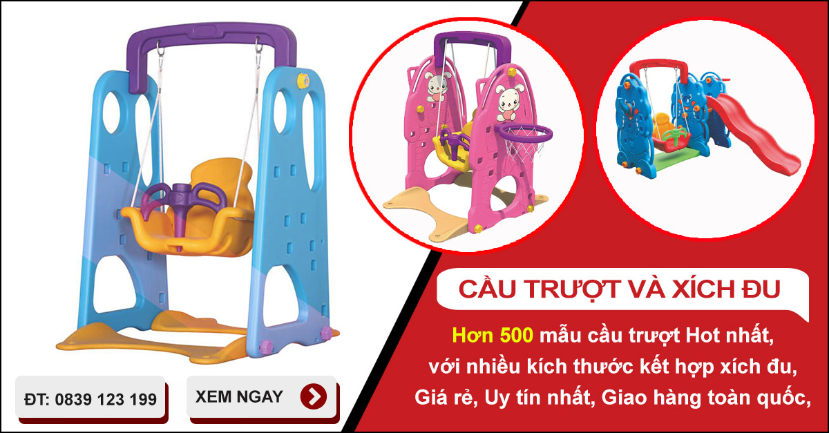 Cách chọn mua cầu trượt đồ chơi cho bé