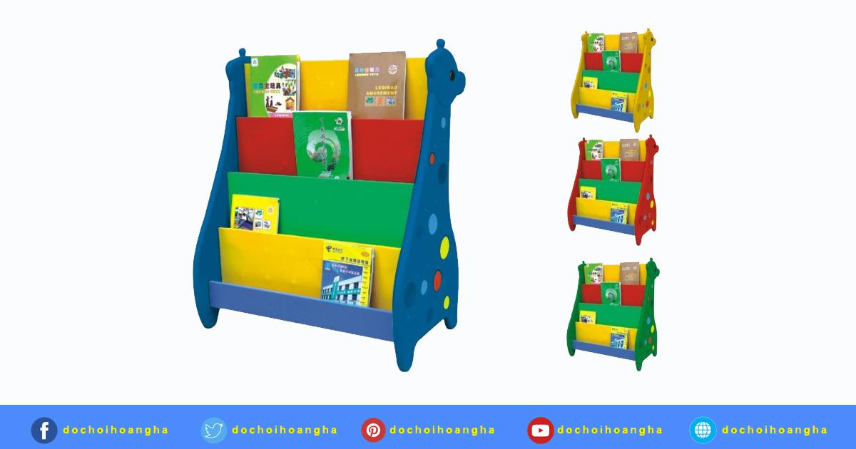Kệ Sách Bằng Nhựa Cho Bé Hình Con Hưu Chất liệu nhựa an toàn không gây độc hại cho trẻ.