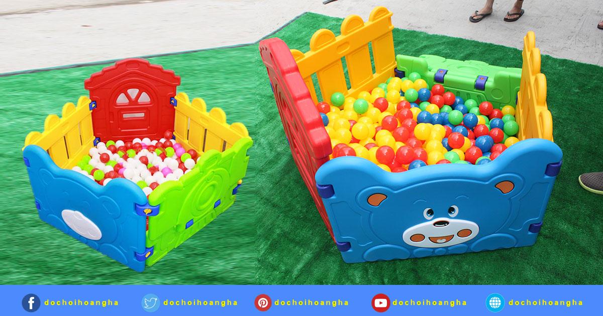 Nhà banh trẻ em hình gấu mini