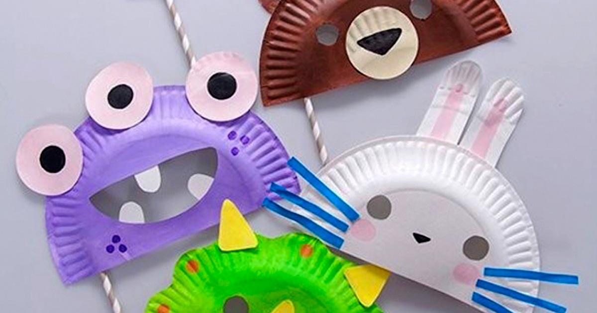 Cách làm đồ chơi sáng tạo mặt nạ từ đĩa giấy