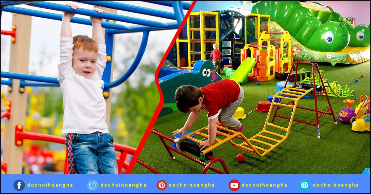 Đồ chơi vận động mầm non giúp bé phát triển thể chất