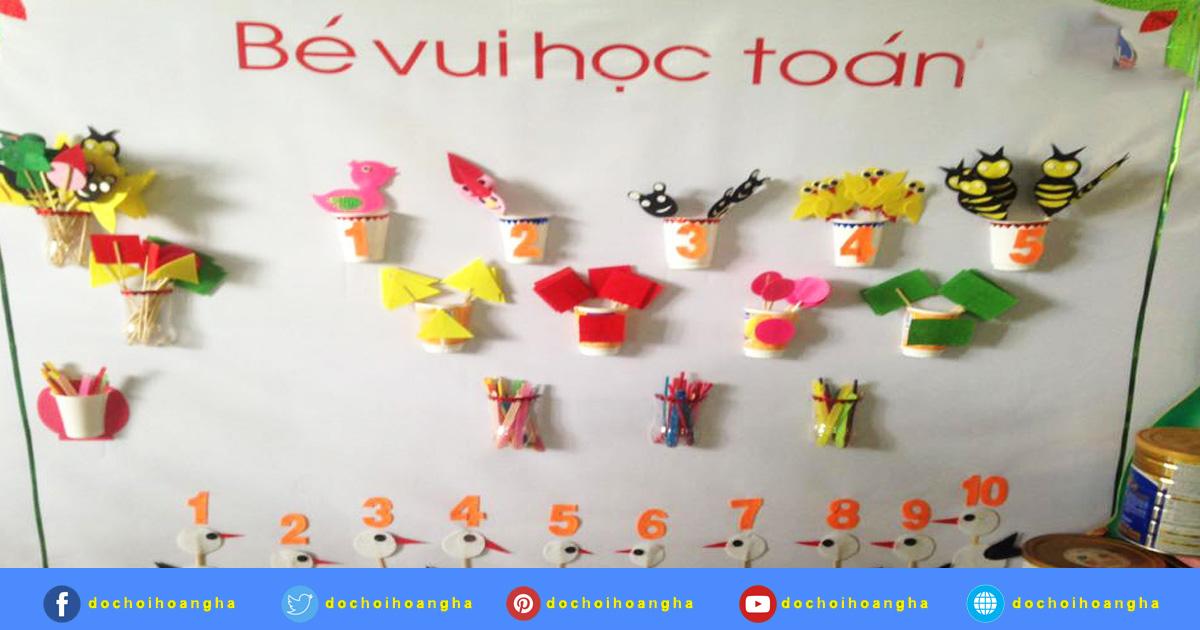sắc màu của đồ chơi học toán cho trẻ em theo các chủ đề