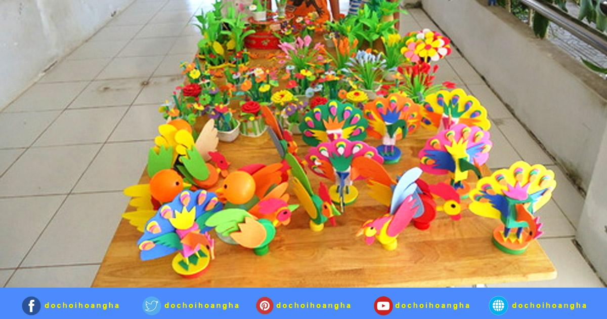 Ấn tượng hội thi làm đồ dùng đồ chơi tự tạo cho trẻ tại trường