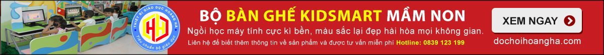 bàn ghế kidsmart Trẻ làm quen với tin học - Phòng học Kidsmart
