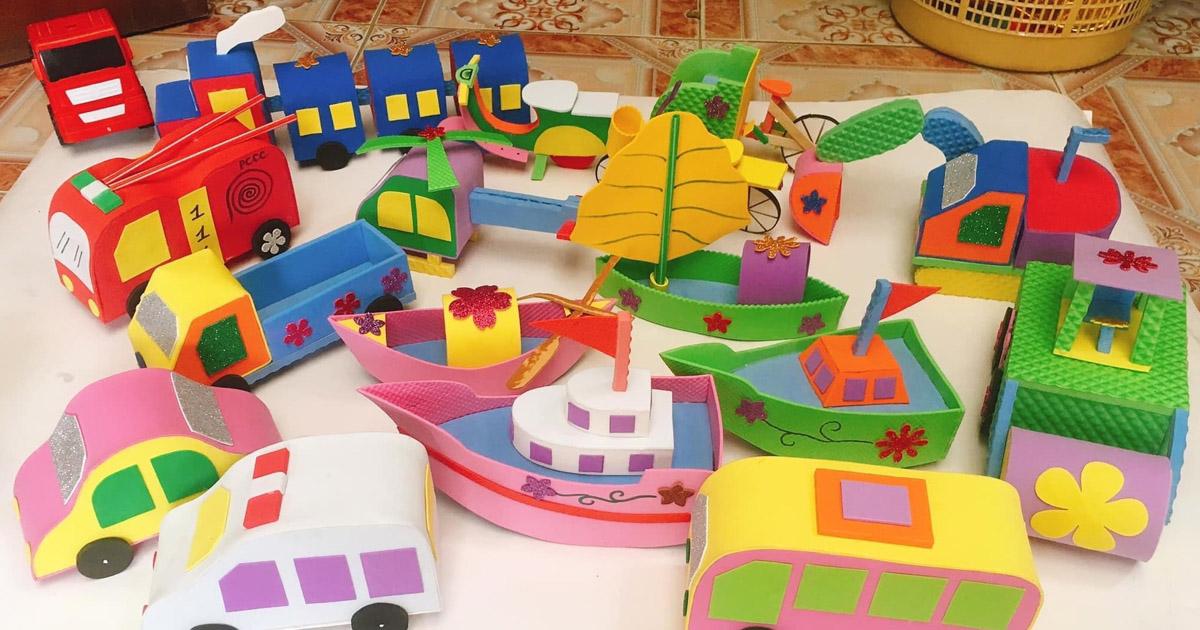 đồ chơi tự tạo chủ đề phương tiện giao thông