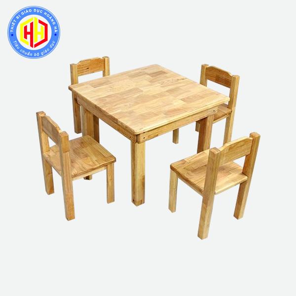 mua bán bàn ghế gỗ học sinh mầm non
