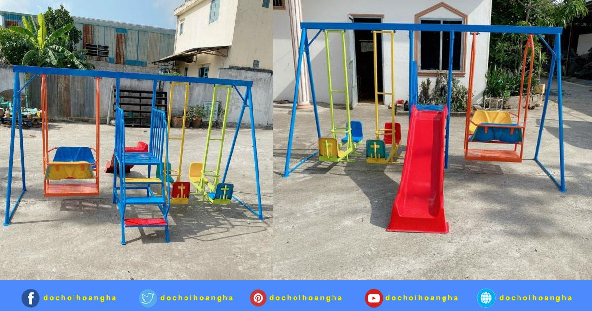 Cầu trượt liên hoàn ngoài trời - Đầu tư khu vui chơi trẻ em