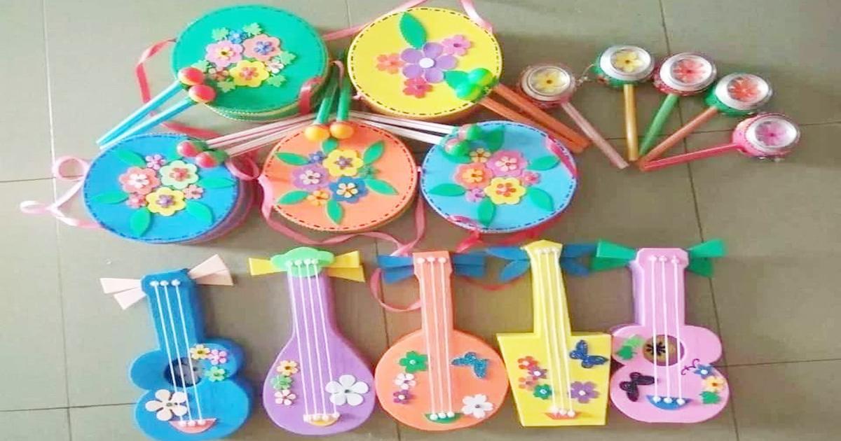 làm đồ dùng đồ chơi theo chủ đề âm nhạc