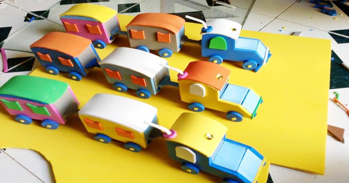 Làm đồ chơi tự tạo chủ đề giao thông cho bé mầm non