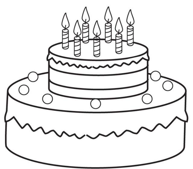 tải tranh tô màu bánh sinh nhật