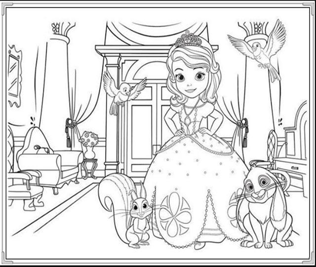 tranh rỗng tô màu công chúa