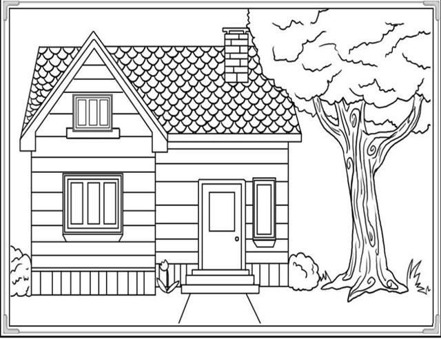 Bộ Tranh tô màu ngôi nhà cho bé cực kute và dễ thương