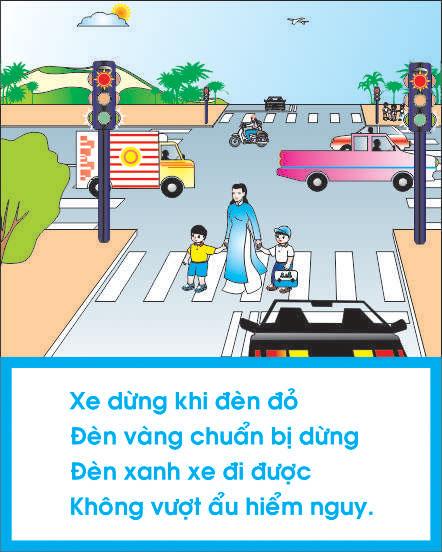 Thực hiện an toàn giao thông khi đi đến trường