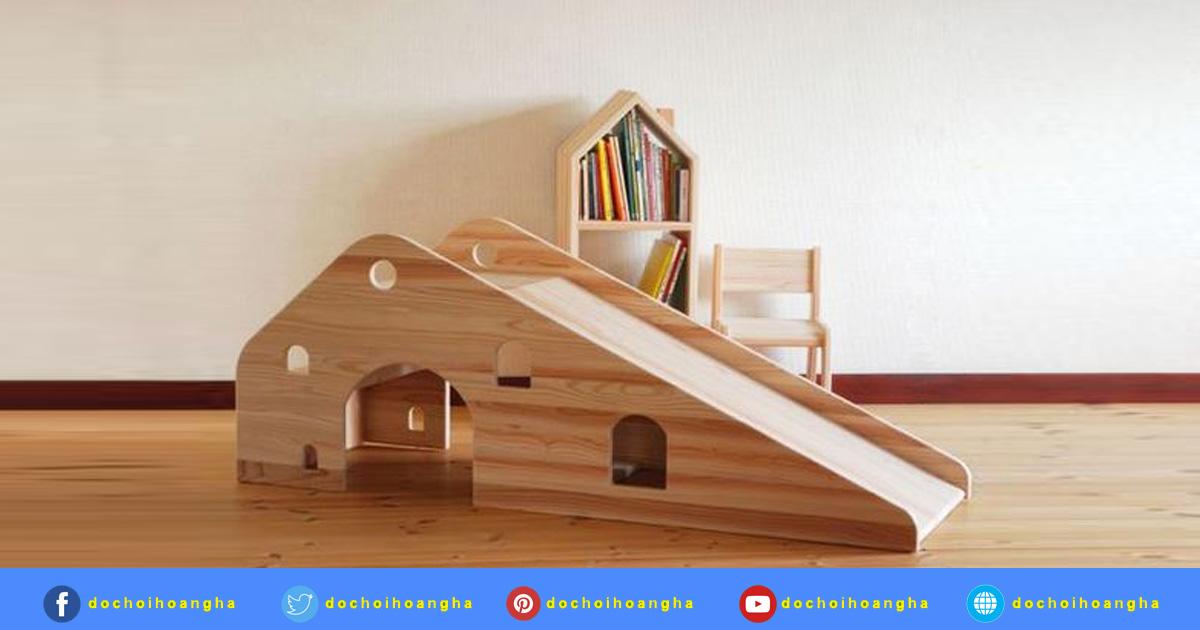 Thiết kế đồ chơi cầu trượt bằng gỗ an toàn cho trẻ khi sử dụng