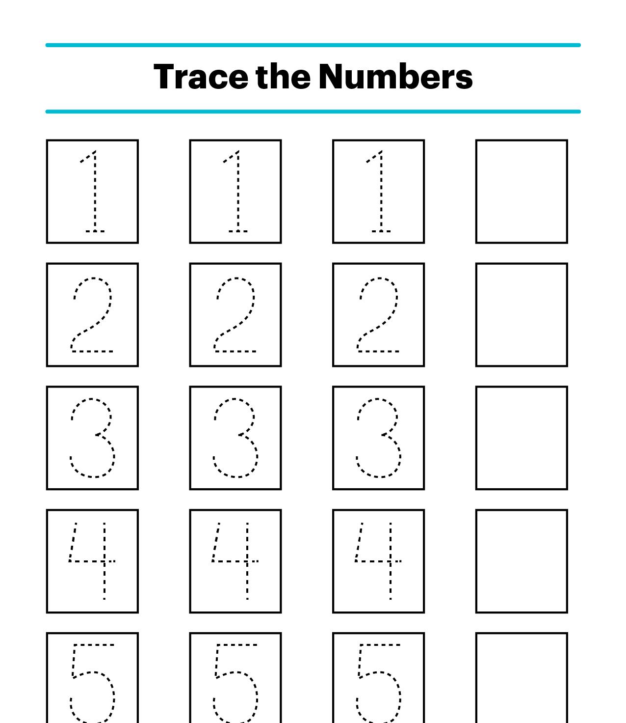 Trò chơi Tập viết số theo mẫu