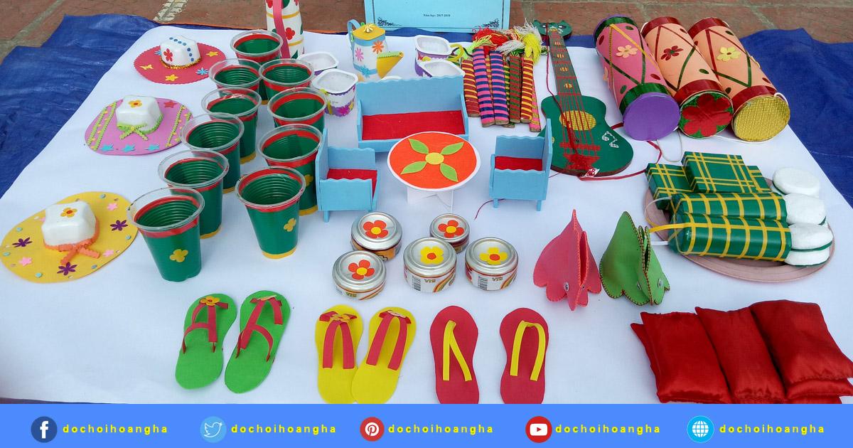 Hội thi làm đồ dùng đồ chơi cấp huyện năm học 2018-2019