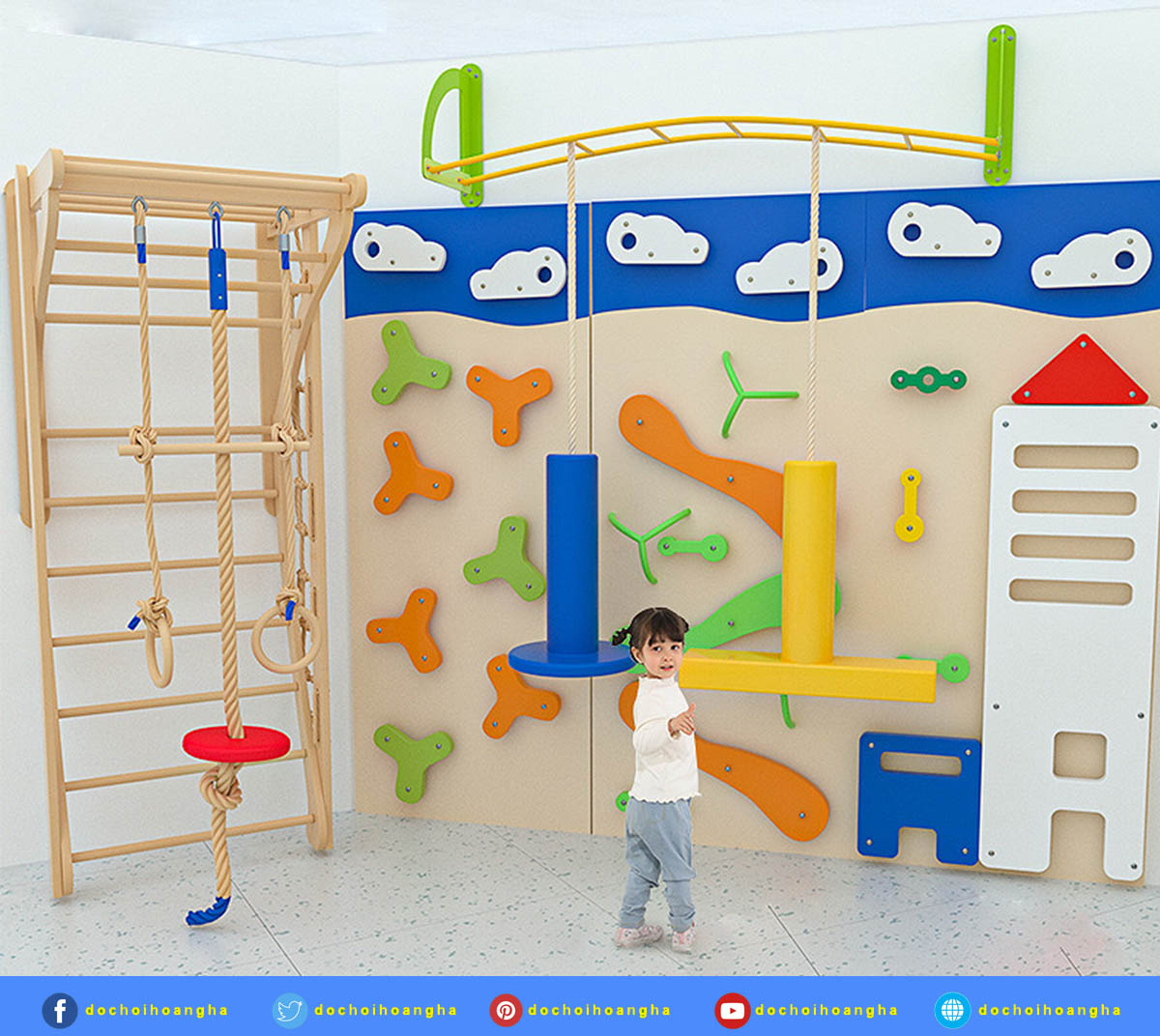Tường leo núi trong nhà cho trẻ em