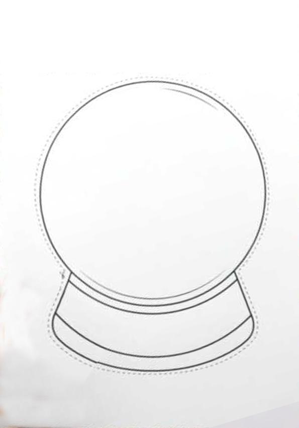 Mẫu cách làm quả cầu tuyết bằng giấy