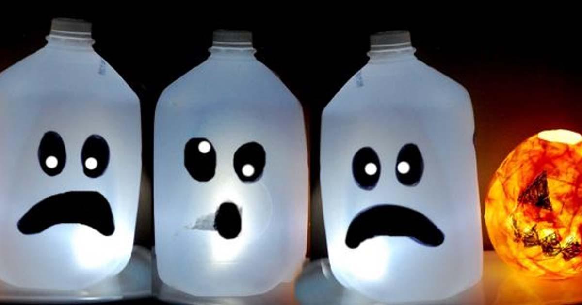 Đồ chơi từ Chai đã qua sử dụng - Trang trí Halloween