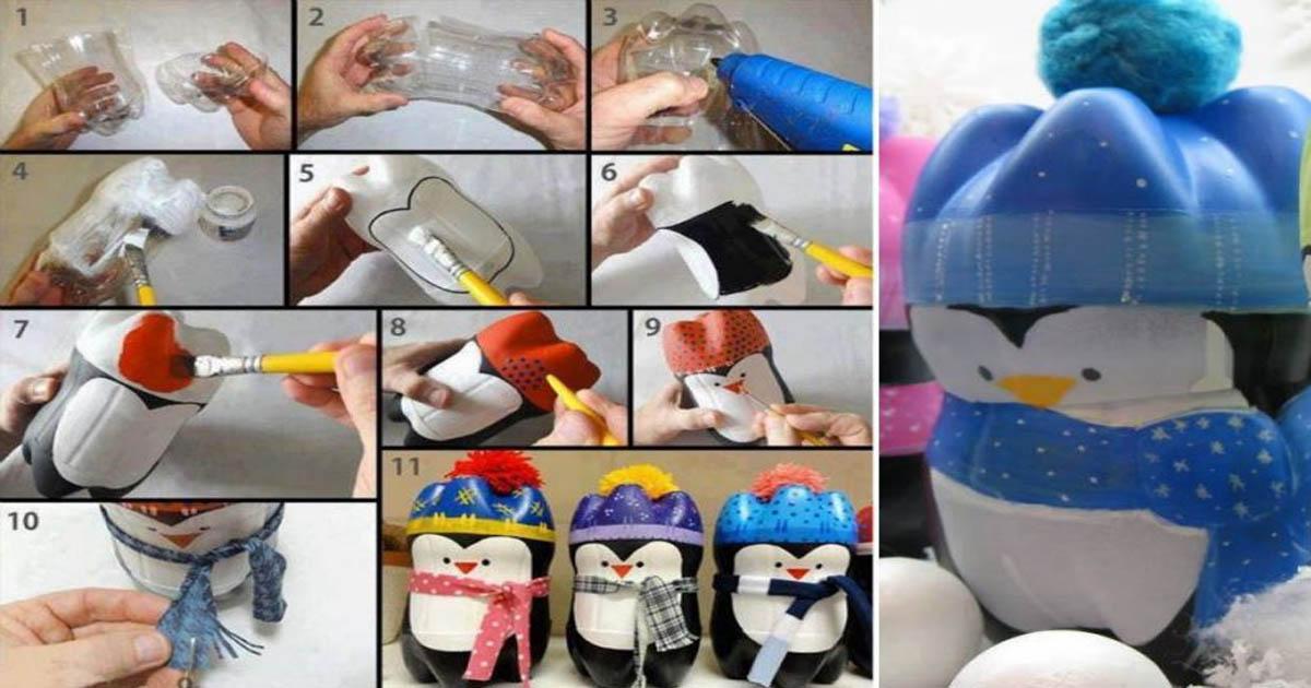 Đồ chơi từ Chai đã qua sử dụng - Penguin