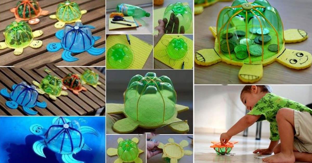 Đồ chơi từ Chai đã qua sử dụng - Con rùa