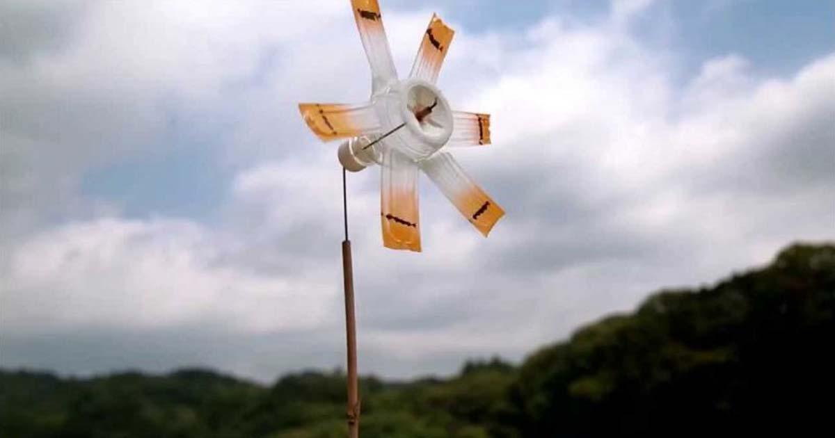 Đồ chơi từ Chai đã qua sử dụng - Cối xay gió