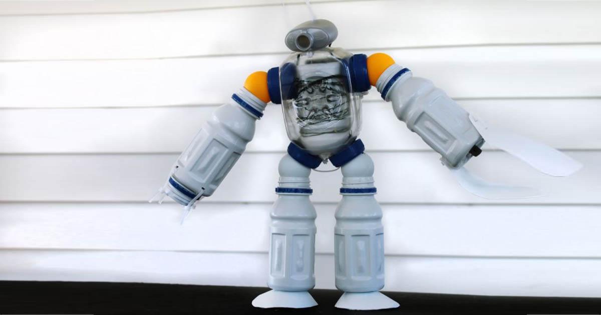 Đồ chơi từ Chai đã qua sử dụng - Robot