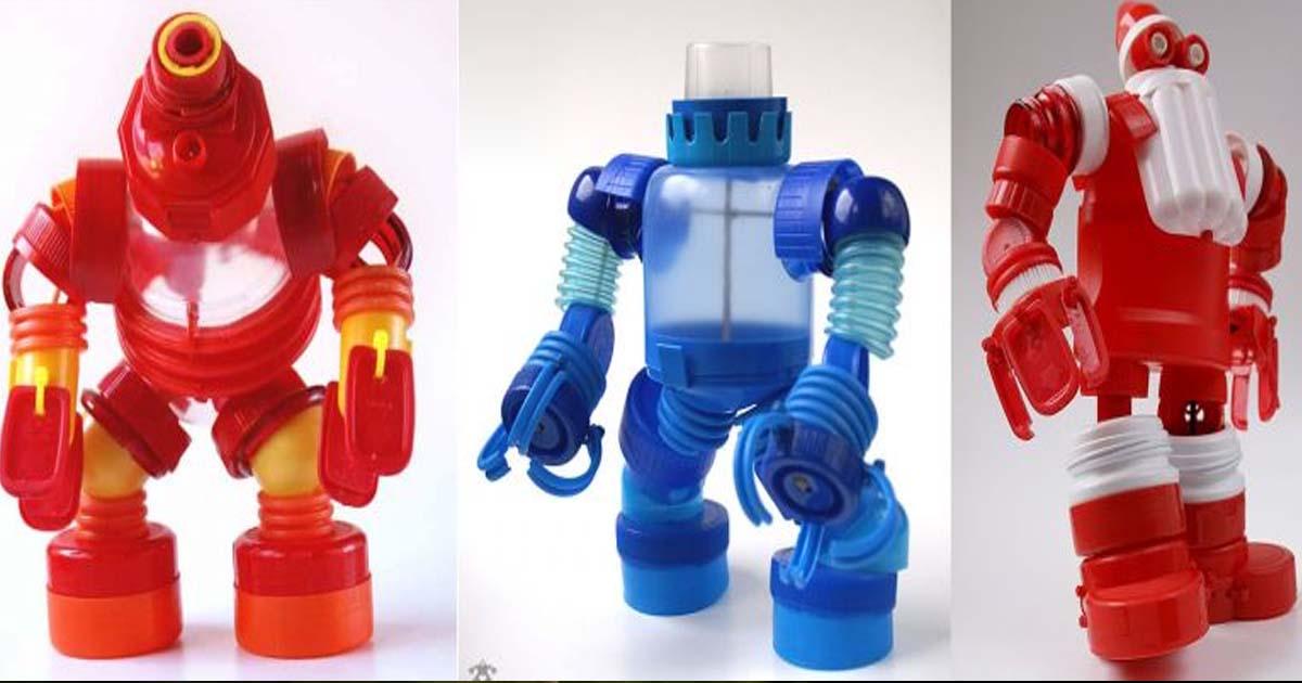Đồ chơi từ Chai đã qua sử dụng - Đội quân Robot