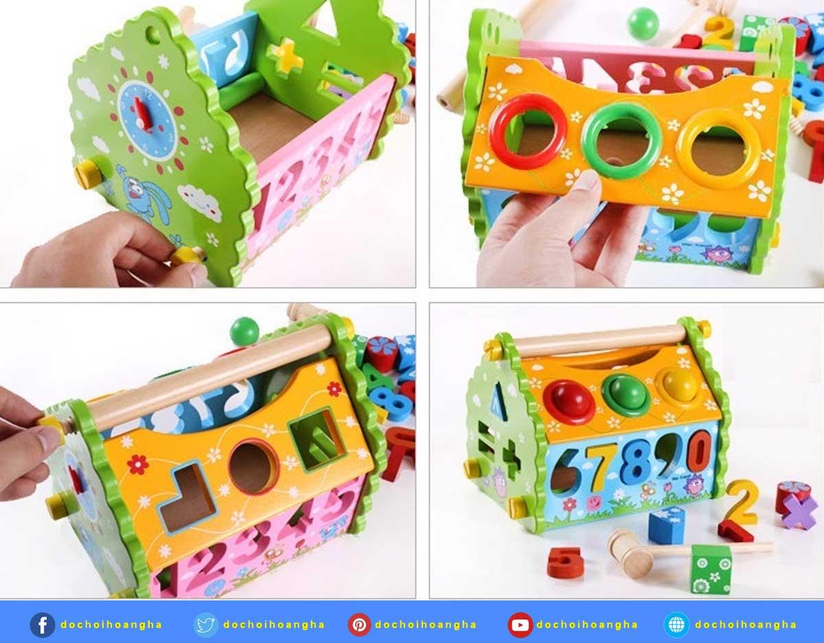Bộ đồ chơi thả hình khối gỗ dạng số